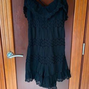 Guess Black Lace Romper